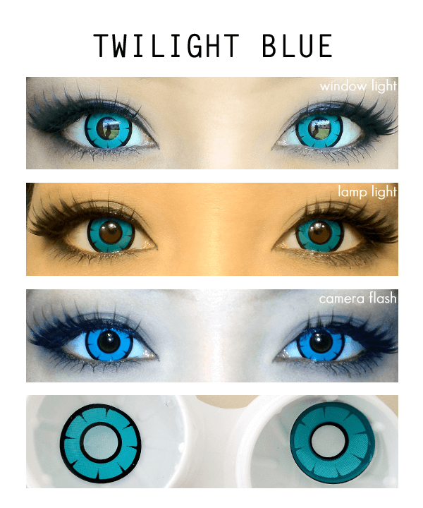 Dolly Eye Twilight Blue Colored Contacts cosplay