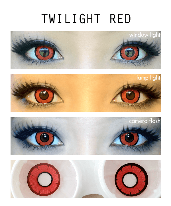 Dolly Eye Twilight Red colored contacts lensvillage